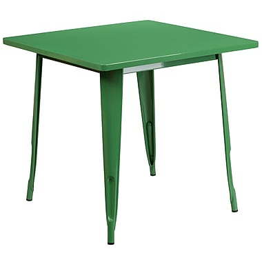 Flash Furniture 31.5'' Square Green Metal Indoor-Outdoor Table (ET-CT002-1-GN-GG)