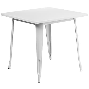Flash Furniture 31.5'' Square White Metal Indoor-Outdoor Table (ET-CT002-1-WH-GG)