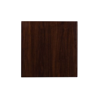 Flash Furniture 24'' Square Resin Walnut Table Top (TP-WAL-2424-GG)
