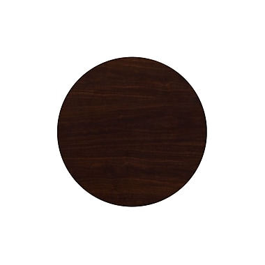 Flash Furniture – Dessus de table rond de 24 po en résine, noyer (TP-WAL-24RD-GG)