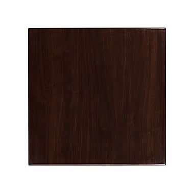 Flash Furniture 30'' Square Resin Walnut Table Top (TP-WAL-3030-GG)