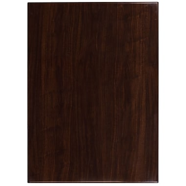 Flash Furniture – Dessus de table rectangulaire de 30 x 42 po en résine, noyer (TP-WAL-3042-GG)