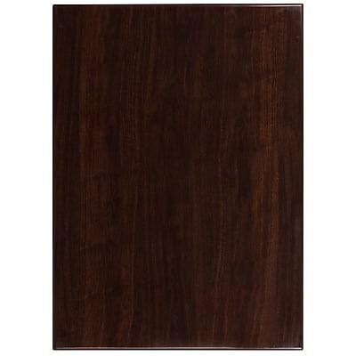 Flash Furniture 30'' x 42'' Rectangular Resin Walnut Table Top (TP-WAL-3042-GG)