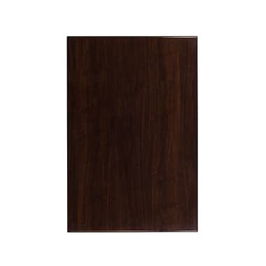 Flash Furniture 30'' x 45'' Rectangular Resin Walnut Table Top (TP-WAL-3045-GG)