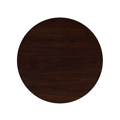 Flash Furniture 30'' Round Resin Walnut Table Top (TP-WAL-30RD-GG)