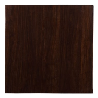 Flash Furniture 36'' Square Resin Walnut Table Top (TP-WAL-3636-GG)