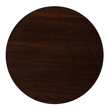 Flash Furniture 36'' Round Resin Walnut Table Top (TP-WAL-36RD-GG)