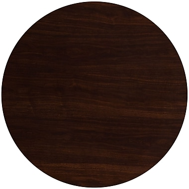 Flash Furniture 48'' Round Resin Walnut Table Top (TP-WAL-48RD-GG)