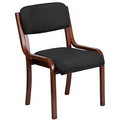 Flash Furniture Contemporary Black Fabric Wood Side Chair with Walnut Frame (UH-5071-BK-WAL-GG)