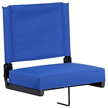 Flash Furniture Game Day Seats by Flash with Ultra-Padded Seat in Blue (XU-STA-BL-GG)