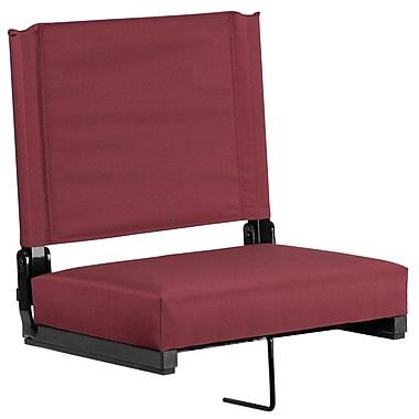 Flash Furniture Game Day Seats by Flash with Ultra-Padded Seat in Maroon (XU-STA-M-GG)