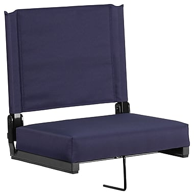 Flash Furniture Game Day Seats by Flash with Ultra-Padded Seat in Navy (XU-STA-NVY-GG)