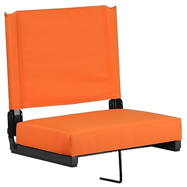 Flash Furniture Game Day Seats by Flash with Ultra-Padded Seat in Orange (XU-STA-OR-GG)