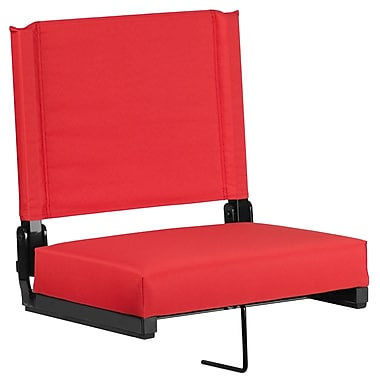 Flash Furniture Game Day Seats by Flash with Ultra-Padded Seat in Red (XU-STA-RED-GG)