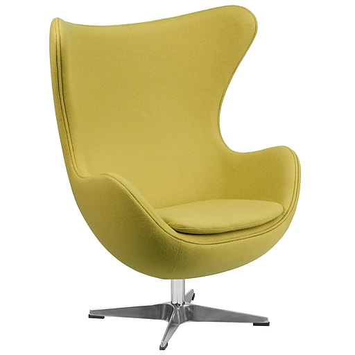 Flash Furniture Citron Wool Fabric Egg Chair With Tilt Lock Mechanism Zb 20 Gg Staples