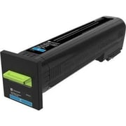 Lexmark CS820, CX820, CX825, CX860 Cyan Return Program Toner Cartridge (72K10C0)