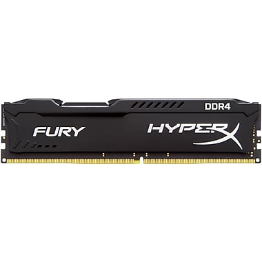 Kingston HX424C15FB/16 HyperX® FURY 16GB 2400MHz DDR4 CL15 DIMM Computer Memory, Black