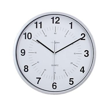 Kiera Grace HO85113-0 Synchro Silent Wall Clock, 12