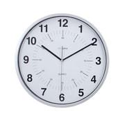 Kiera Grace - Horloge murale silencieuse HO85113-0 Synchro, 12 po, argent