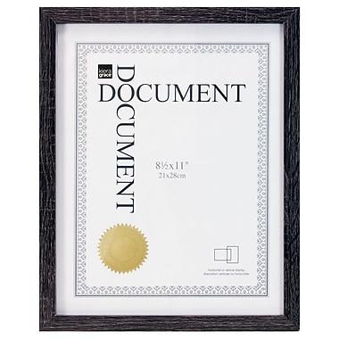 Kiera Grace - Cadre pour document linéaire PH44108-9, pour 8,5 po x 11 po, noir Driftwood