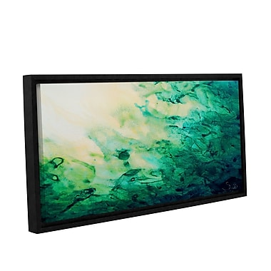 ArtWall Green Watery Abstract by Shiela Gosselin Framed Painting Print on Wrapped Canvas