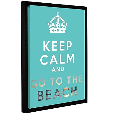 ArtWall Keep Calm And Go To The Beach by Art D Signer Kcco Framed Textual Art on Wrapped Canvas