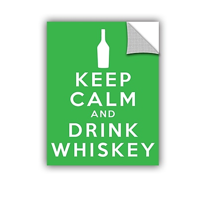 ArtWall Keep Calm And Drink Whiskey by Art D Signer Kcco Textual Art; 18'' H x 14'' W