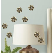 Room Mates Metal Flower Surface Embellishments Wall Decal