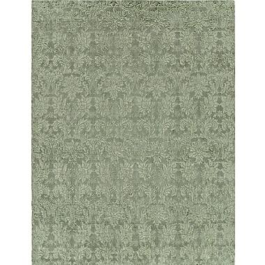 Wildon Home Hand-Woven Green Area Rug; Runner 2'6'' x 10'