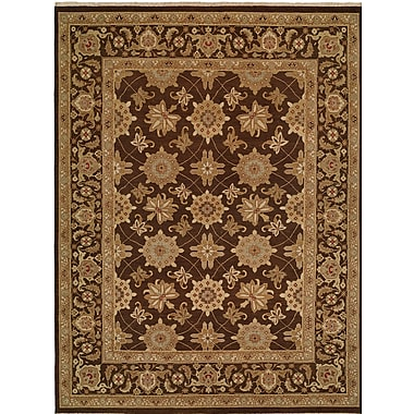 Wildon Home Hand-Woven Brown Area Rug; Square 8'