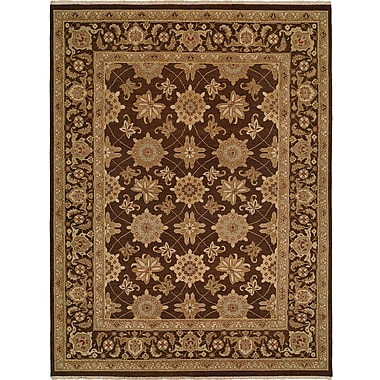 Wildon Home Hand-Woven Brown Area Rug; 6' x 9'