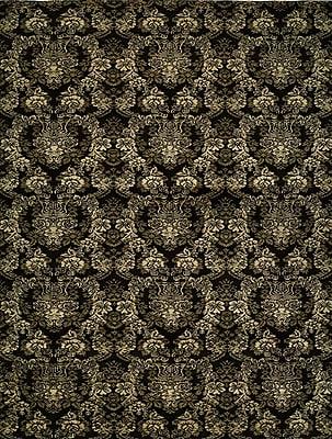Wildon Home Hand-woven Black Area Rug; 10' x 14'