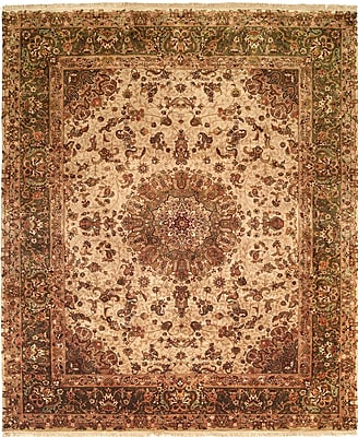 Wildon Home Hand-Knotted Brown Area Rug; 4' x 6'