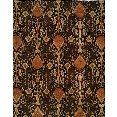 Wildon Home Hand-Tufted Brown Area Rug; Runner 2'6'' x 10'