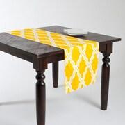 Saro Melilla Moroccan Design Table Runner; Yellow