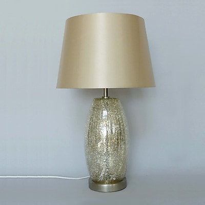 NU Steel Champagne Crackled 19.7'' Table Lamp
