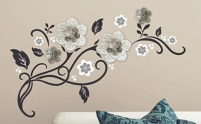Room Mates Floral Scroll Peel and Stick Wall Decal