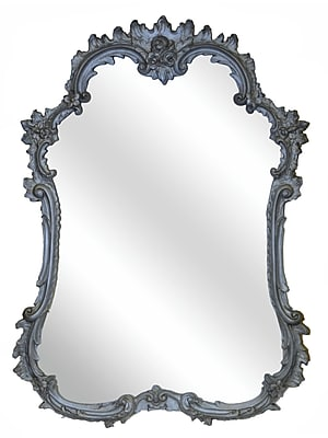 Hickory Manor House French Mirror; Gilt Silver