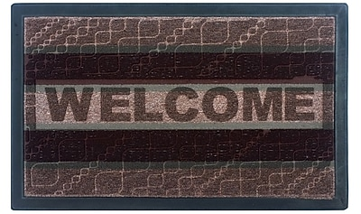 AttractionDesignHome Welcome Doormat; Brown / Blue