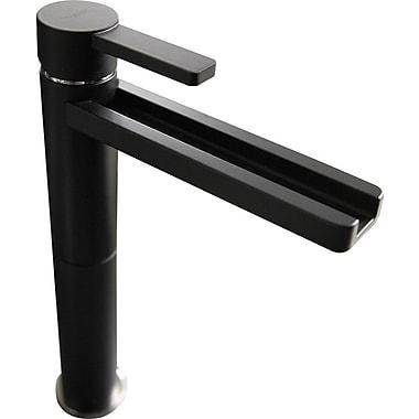 MaestroBath Single Hole Waterfall Faucet; White Mat