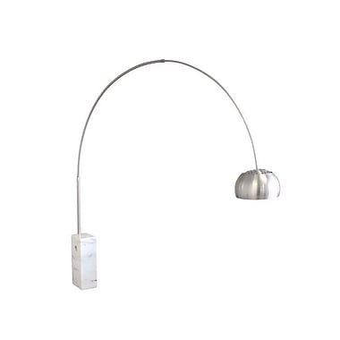 MacerHomeDecor Round Tube Arco 90'' Arched Floor Lamp
