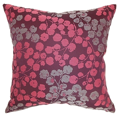 The Pillow Collection Fleur Floral Throw Pillow Cover; 20'' x 20''