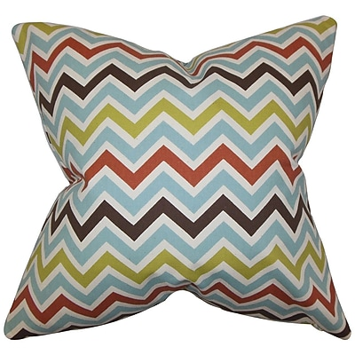The Pillow Collection Quito Zigzag Cotton Throw Pillow Cover; 20'' x 20''