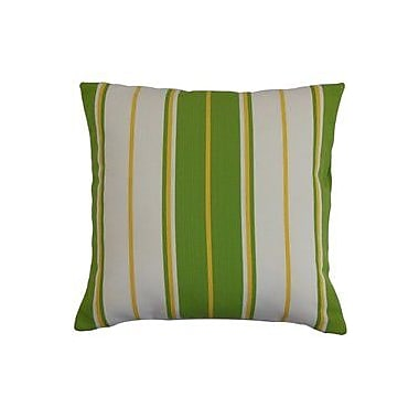 The Pillow Collection Saloni Stripes Outdoor Throw Pillow Cover; 18'' x 18''