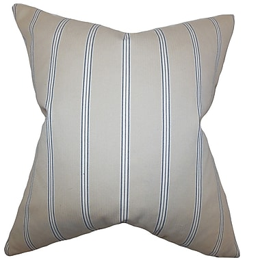 The Pillow Collection Drusilla Stripes Throw Pillow Cover; 20'' x 20''