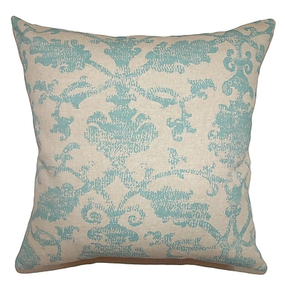 The Pillow Collection Kabala Floral Cotton Throw Pillow Cover; 18'' x 18''