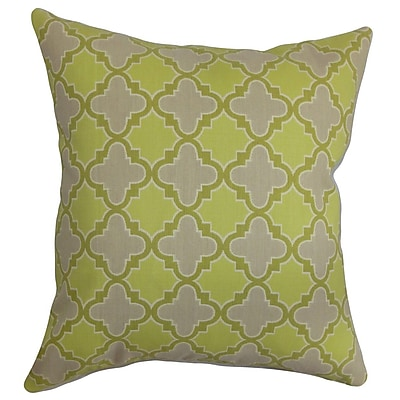 The Pillow Collection Erasma Geometric Cotton Throw Pillow Cover; 20'' x 20''