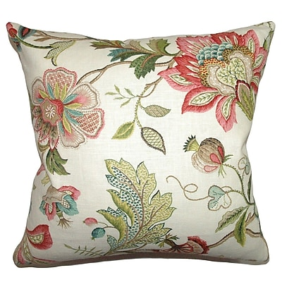The Pillow Collection Adele Floral Throw Pillow Cover; 20'' x 20''