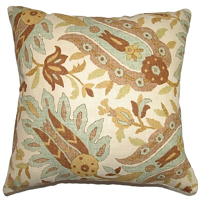 The Pillow Collection Gafsa Paisley Throw Pillow Cover; 18'' x 18''