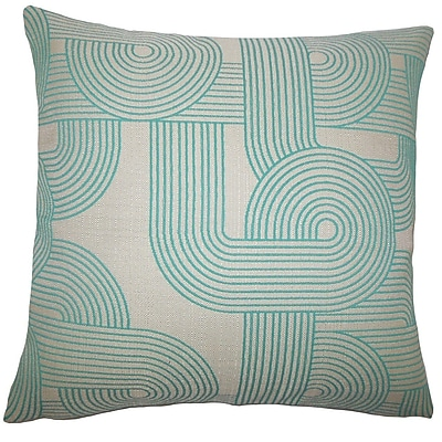The Pillow Collection Salus Geometric Throw Pillow Cover; 18'' x 18''